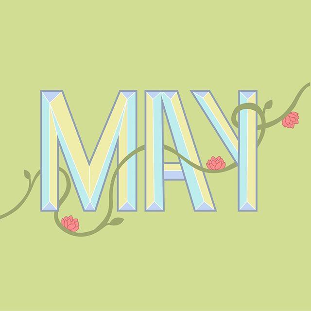 Happy May 🌸  #handlettering #lettering #digitalart #art #vector #calligraphy #may #spring