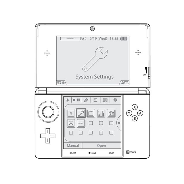 Throwback to a 3DS diagram I did for my 2D Design class back in college. • #TBT #throwbackthursday #3ds #nintendo #diagram #digitalart #art