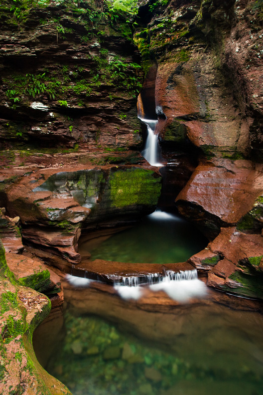 """Swimmin' Hole"" - The perfect place for a summer dip. Adams Falls, Ricketts Glen State Park, Pennsylvania."