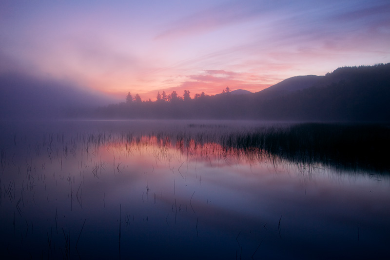 A Peaceful Morning on Connery Pond, Adirondack State Park, New York, United States.