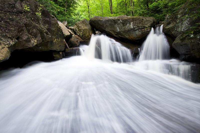 Pendleton Run in Spring, Blackwater Falls State Park, West Virginia, United States.