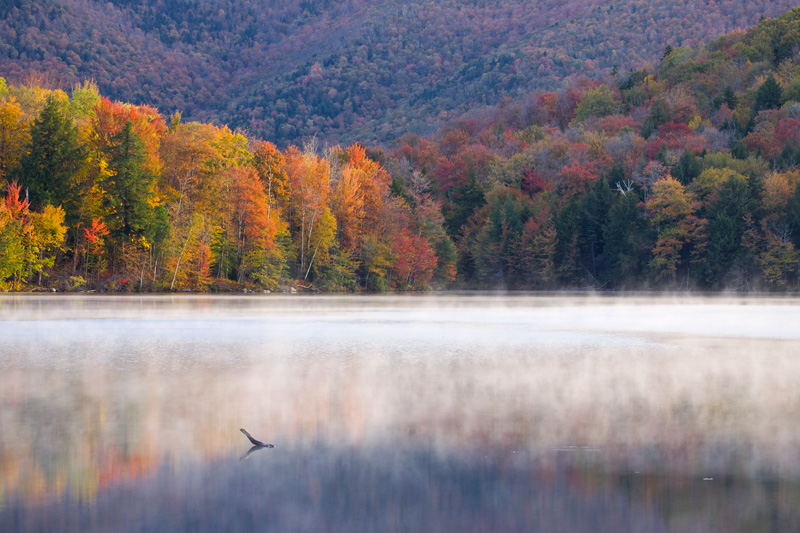 Autumn Reflections, Kent Pond, Vermont, United States.