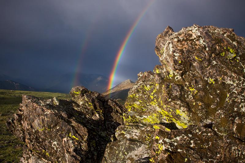 Double Rainbow, Rocky Mountain National Park, Colorado, United States.