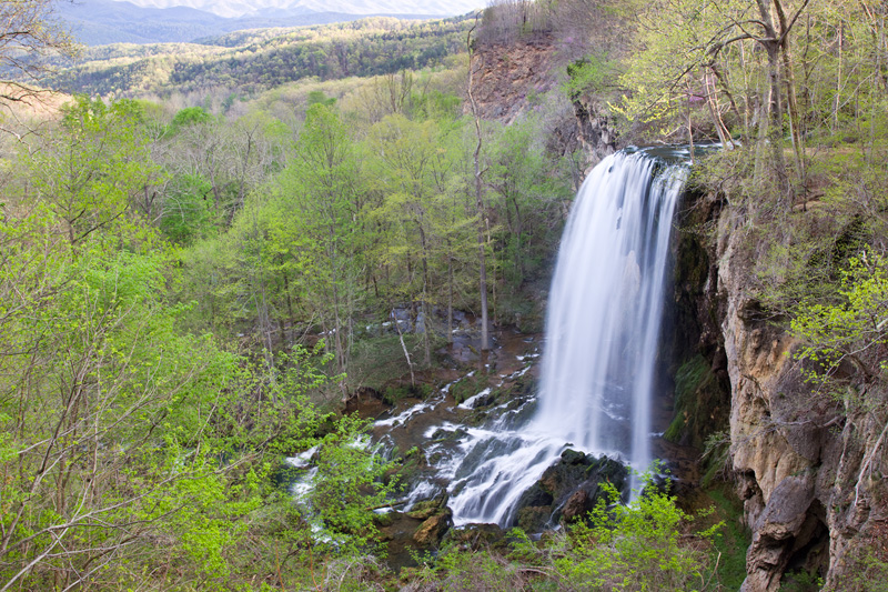 Falling Spring Falls on a Sunny Spring Day, George Washington National Forest, Virginia, United States.