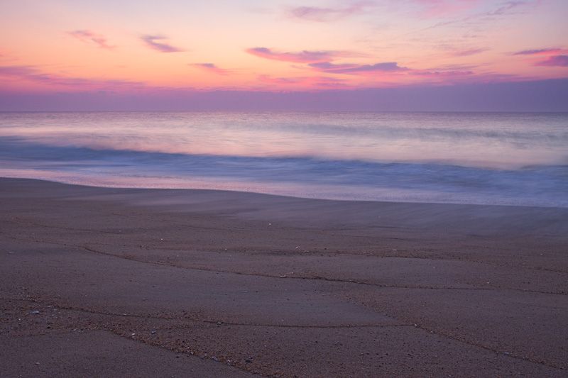 Pastel Sunrise Over the Atlantic Ocean, Bethany Beach, Middlesex Beach, Delaware, United States.
