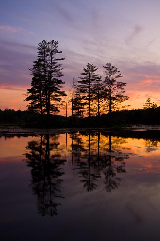 Gorton Pond at Sunset, Upstate New York, United States.