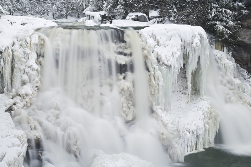 Blackwater Falls in Winter, Blackwater Falls State Park, West Virginia, United States.