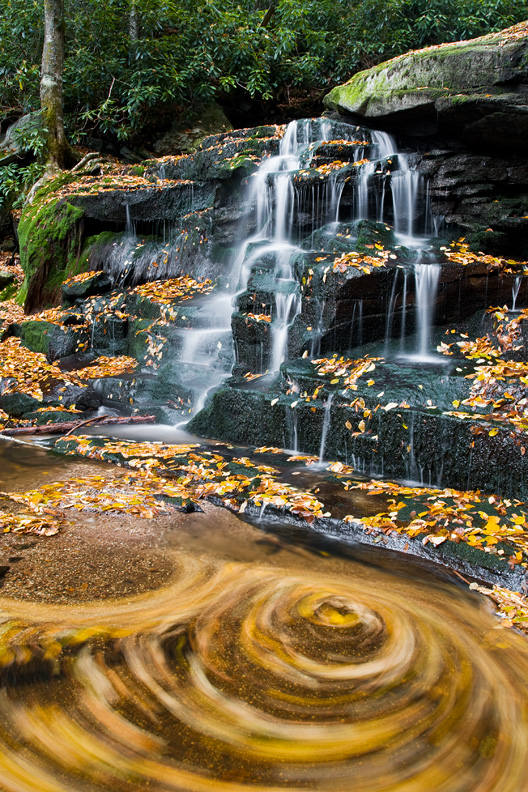 Elakala Run Waterfall, Blackwater Falls State Park, West Virginia, United States.
