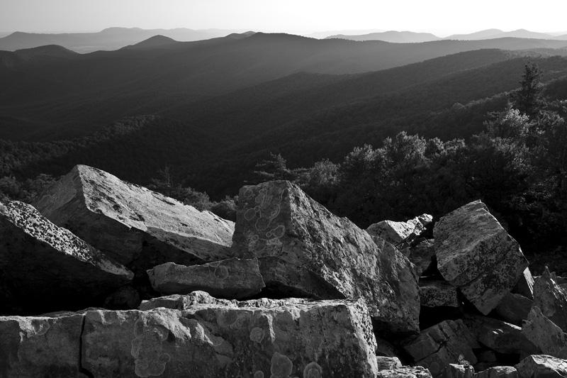 Morning Light at Blackrock Summit, Shenandoah National Park, Virginia, United States.