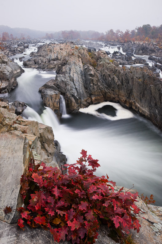 """The Red Dress"" - Great Falls National Park, Virginia"