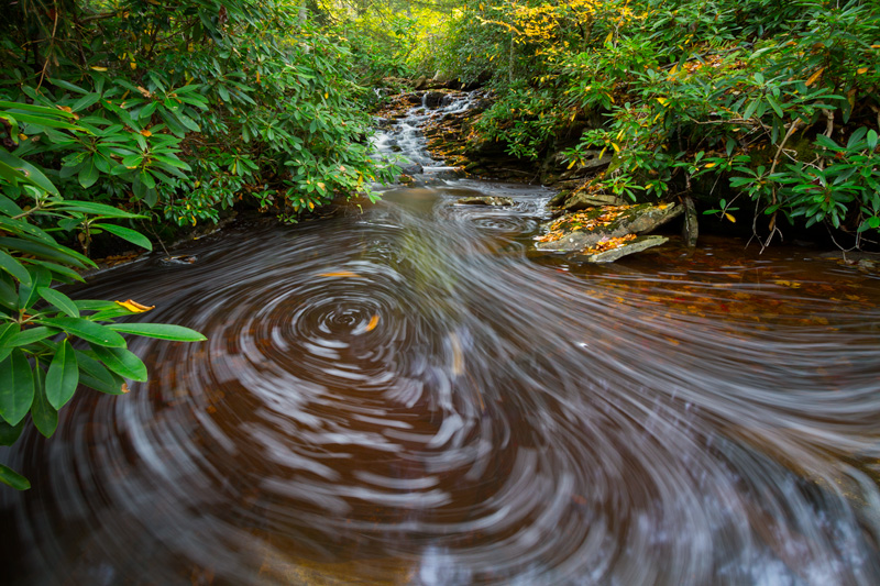 """Autobiography"" - Foam swirls in an eddy, Monongahela National Forest, West Virginia."