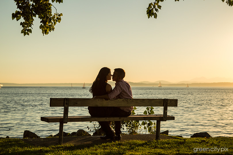 Myrtle Edwards Park offers gorgeous water and green park views for photo sessions.