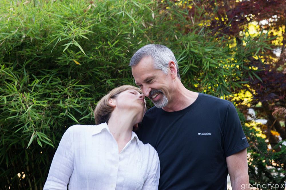 Spontaneous kiss. <3
