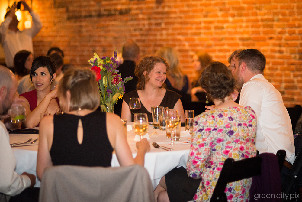 Time to eat! The Kitchen by Delicatus provided a beautiful and intimate setting for the post-wedding dinner party.