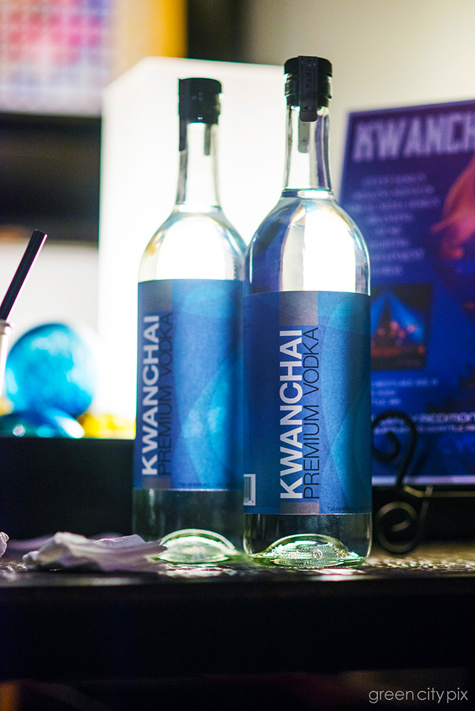 Served at the bar was Kwanchai's own brand of vodka.