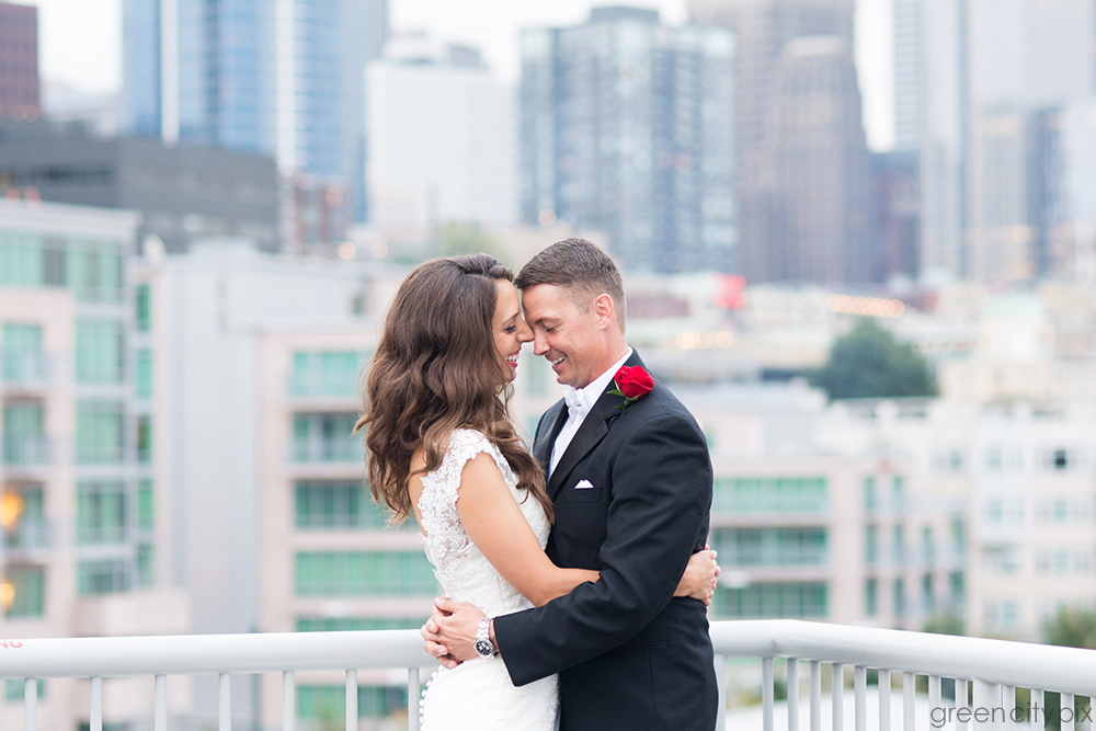Romancing the City: Anne and Norm, on top of the Bell Harbor Maritime Event Center in Seattle.