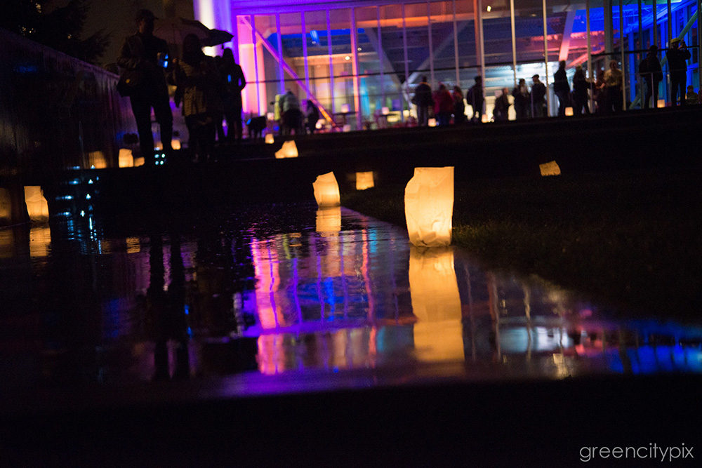 It was a festive, beautiful night as the Seattle Art Museum lit up the Olympic Sculpture Park with paper lanterns.