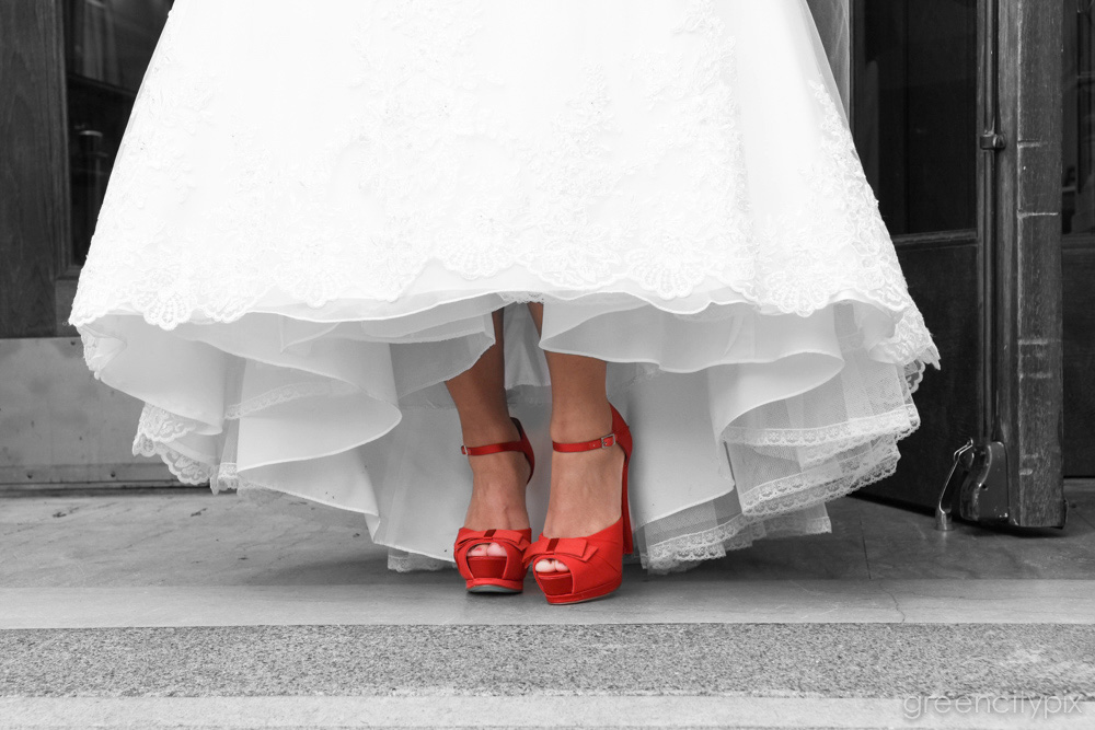 Ruby red shoes. Click three times to be married.