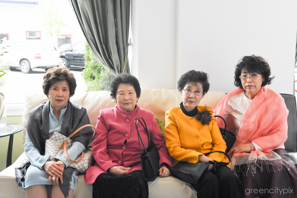 A bevy of ladies wearing cupcakecolors.