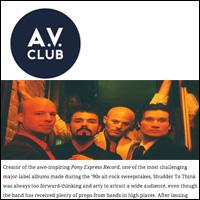 Shudder to Think's Craig Wedren,  A.V. Club , Sept 24, 2009