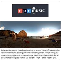 "360-Degree Video: Craig Wedren's Stunning ""Are We,""  NPR Music , Feb 16, 2011"