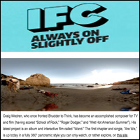 "Craig Wedren's 360-degree Interactive Video, ""Are We,""  IFC , Feb 16, 2011"