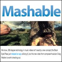 360 Degree Music Video Creates a Dreamy, Haunting World, Mashable , Feb 16, 2011