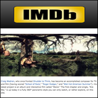 "Craig Wedren's 360-degree Video ""Are We,""  IMDB , Feb 16, 2011"