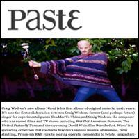 Catching Up With Craig Wedren, Paste , Oct 11, 2011
