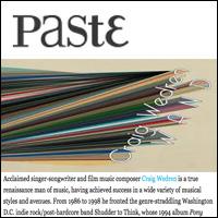 Album Stream: Craig Wedren - Wand, Paste , Sept. 21, 2011