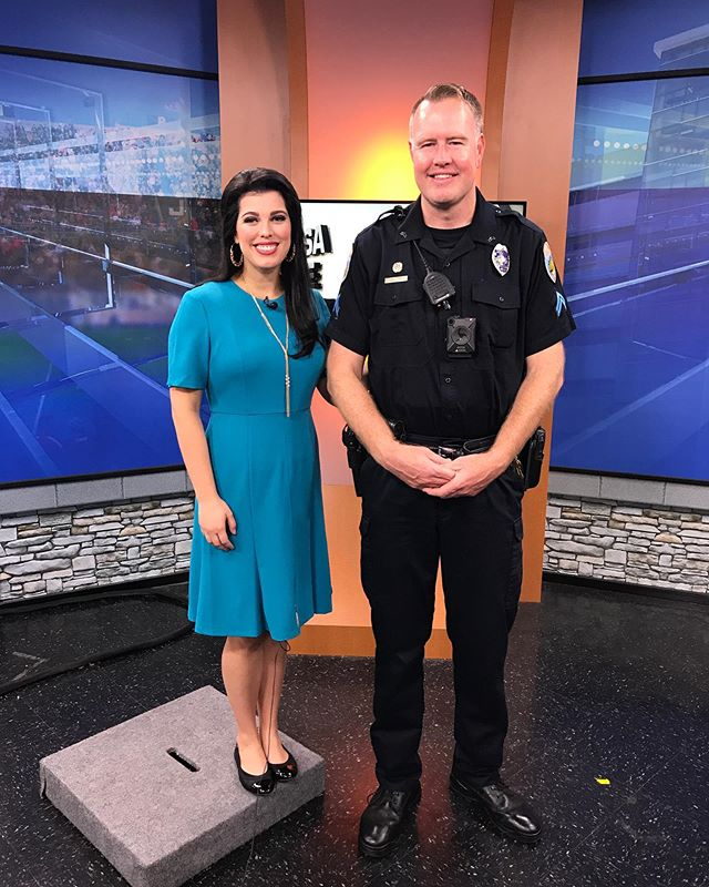One of OPD's finest! Thank you  Corporal Steve LeSueur for stopping by to talk about #nationalnightout #LoveTheBox #OPD #WestTexasStrong