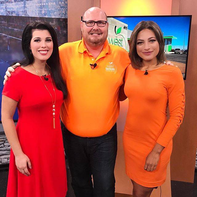 In honor of #HungerActionMonth and #HungerActionDay we wore orange. Thank you Craig Stoker #mediaguy with @wtxfoodbank for stopping by today to talk about ways our community can help #endhunger @wtxfoodbank is always in need of volunteers.  According to #WestTexasFoodBank In Ector County alone there are more than 15,000 identified as being at risk of hunger. The West Texas Food Bank also serves 19 counties in West Texas, with more than 48,000 at risk of hunger.