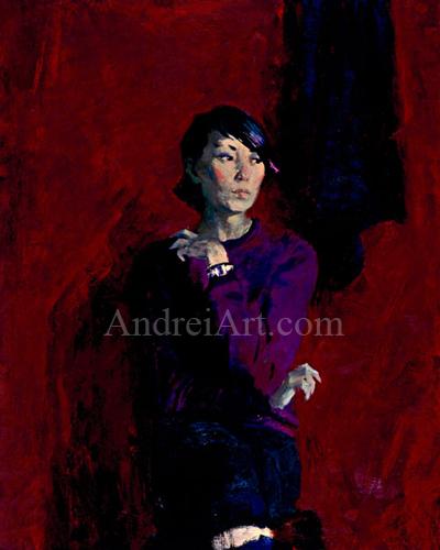"""""""Portrait of Girl in Purple"""""""