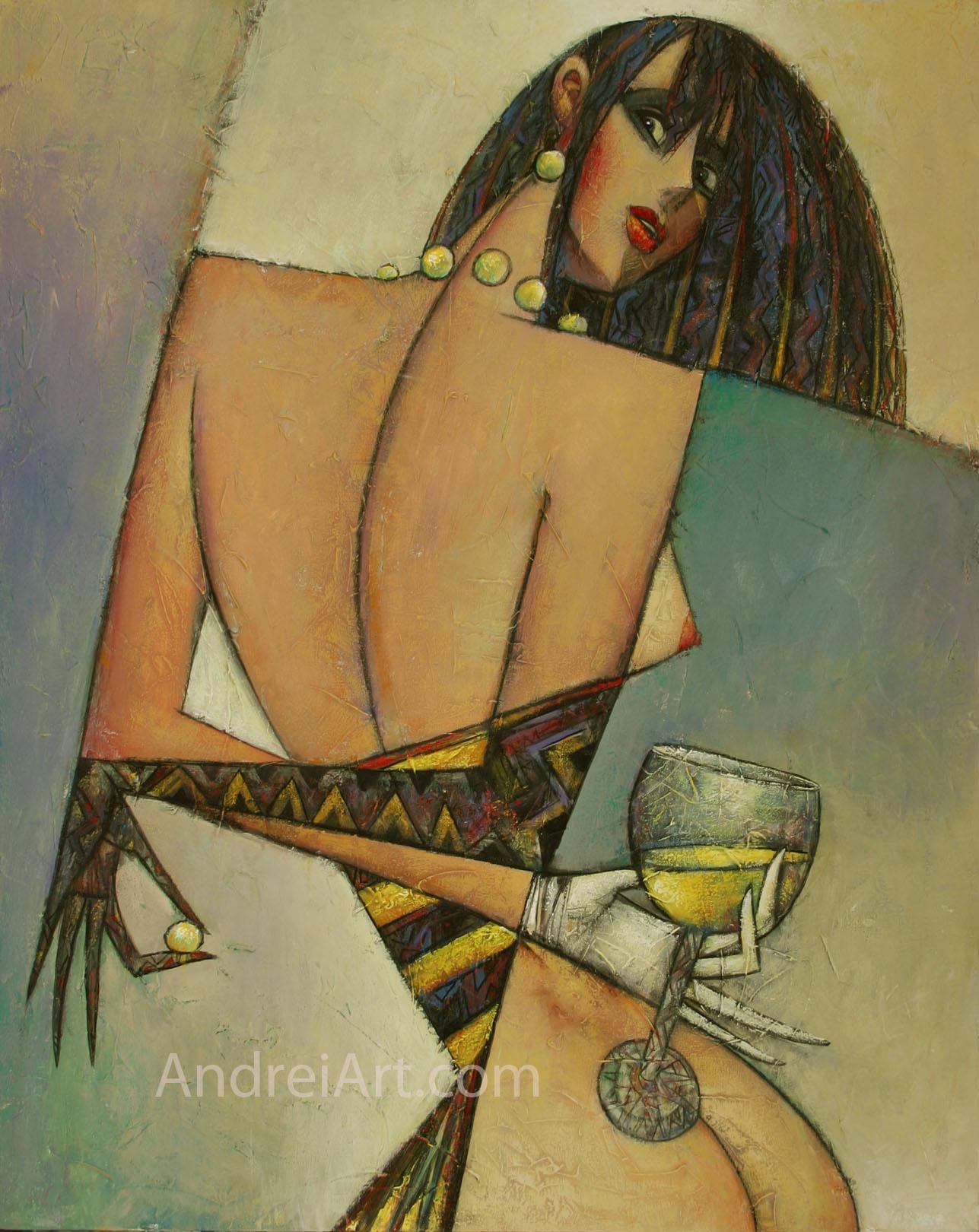"""""""Blanc de la Noir"""" Oil on Canvas 30"""" x 24"""""""