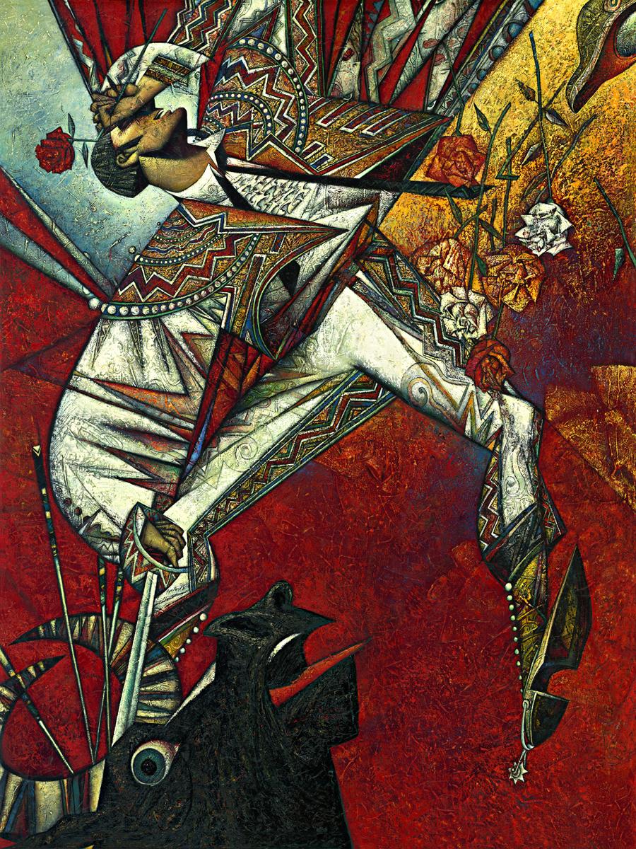 """""""Matador"""" Oil on Canvas 72"""" x 54"""""""