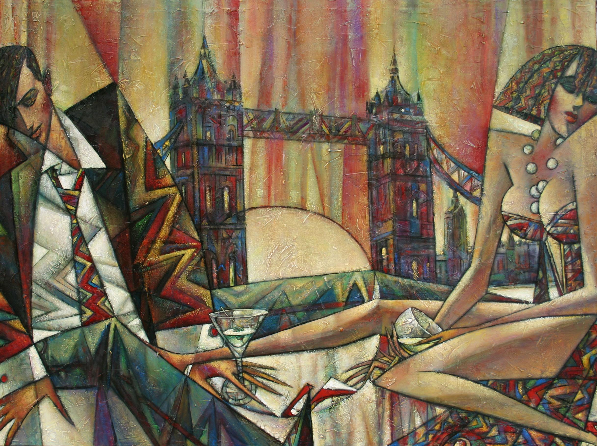 """""""Aurora Borealis"""" Oil on Canvas 36"""" x 48"""""""