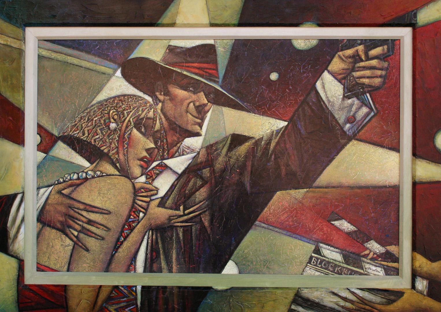 """Blockbuster"" Oil on Canvas 34"" x 48"""