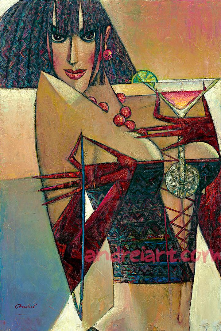 """Cosmopolitan"" Oil on Canvas 36"" x 24"""