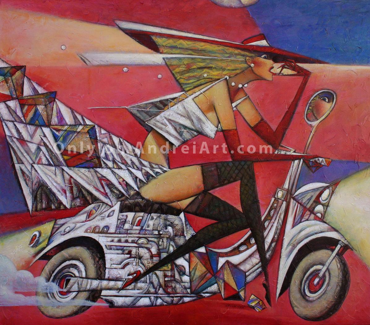 """Lippy"" Oil on Canvas 41"" x 47"""