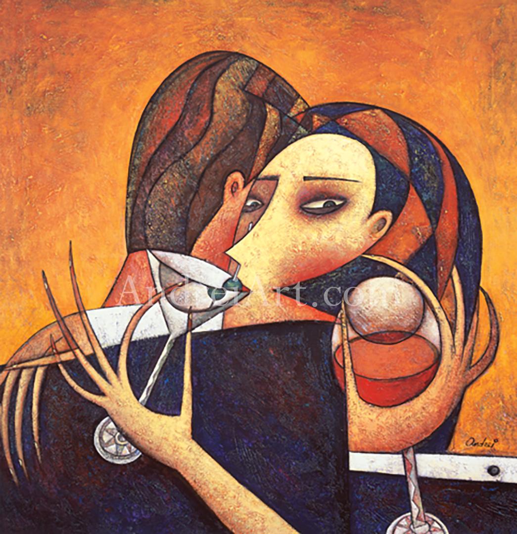 """Martini Night"" Oil on Canvas 31"" x 32"""