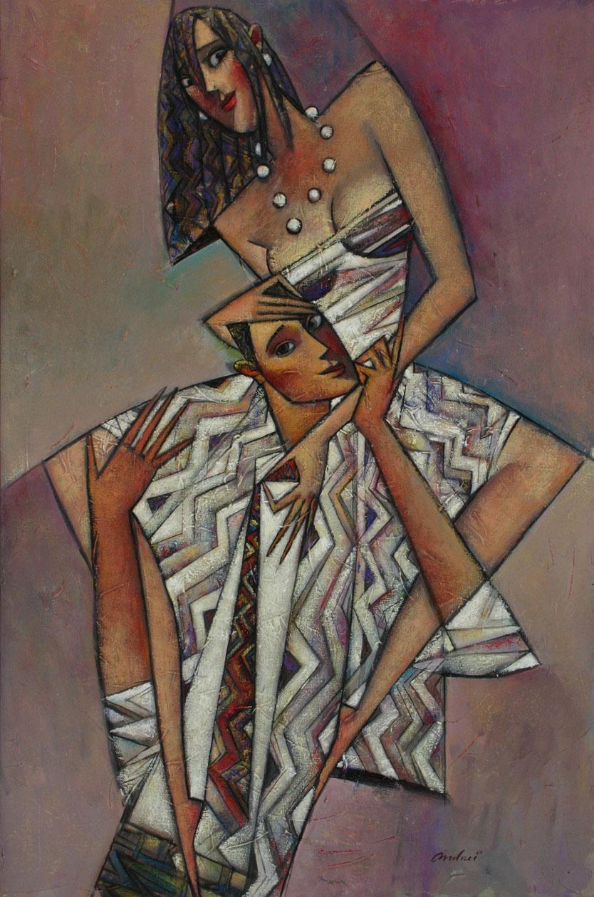 """Piggyback"" Oil on Canvas 36"" x 24"""