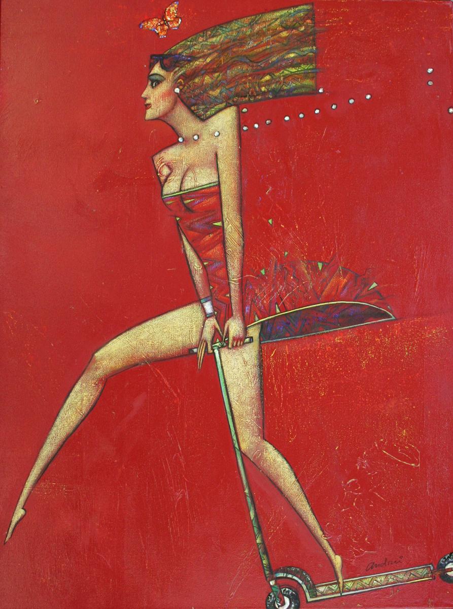 """Volare"" Oil on Canvas 48"" x 36"""