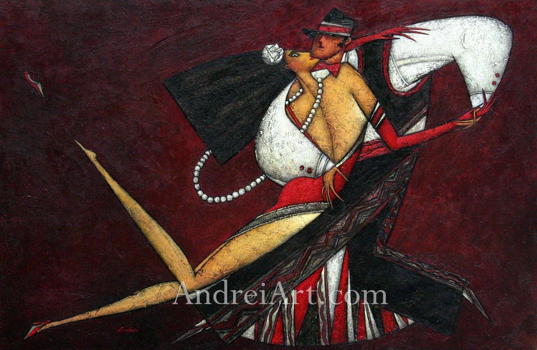 """Tango Momentum"" Oil on Canvas 24"" x 48"""