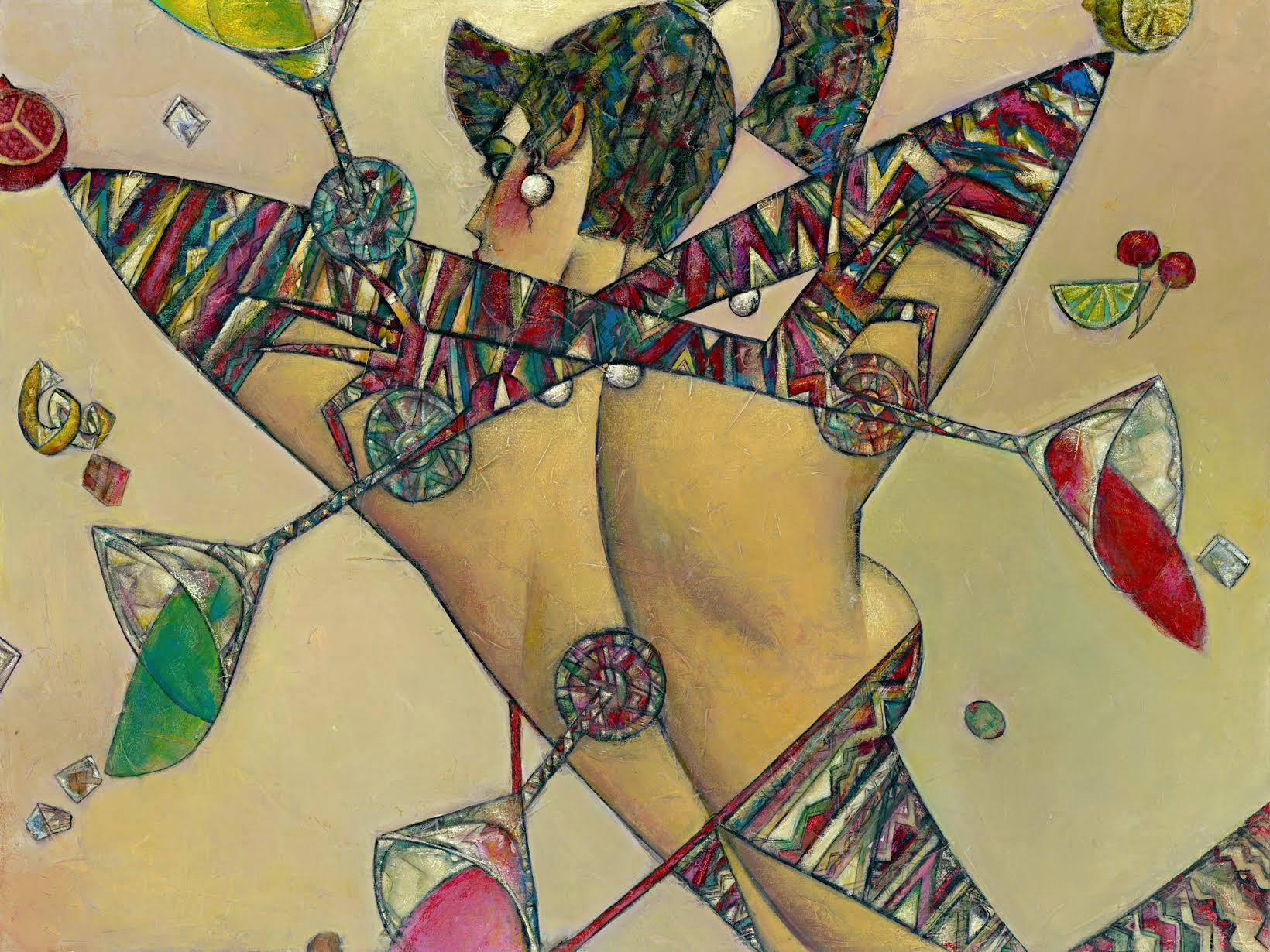 """Martini Twist"" Oil on Canvas 36"" x 48"""
