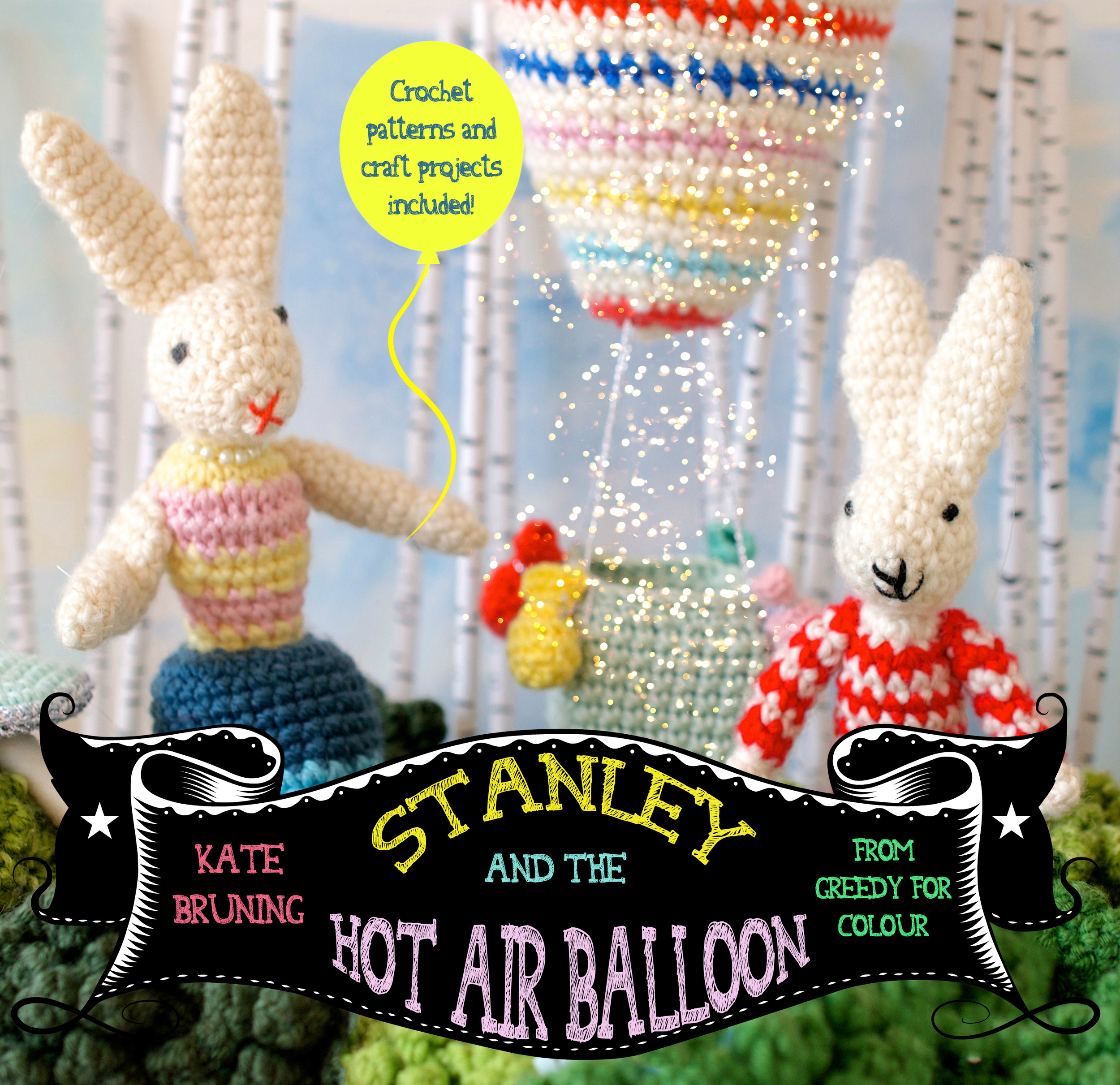 Stanley is a little rabbit about to have a big hot air ballooning adventure. But shouldn't he be napping? Crochet and craft projects included!