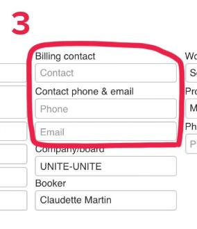 billing contact