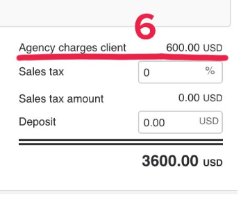 6 agency charge total