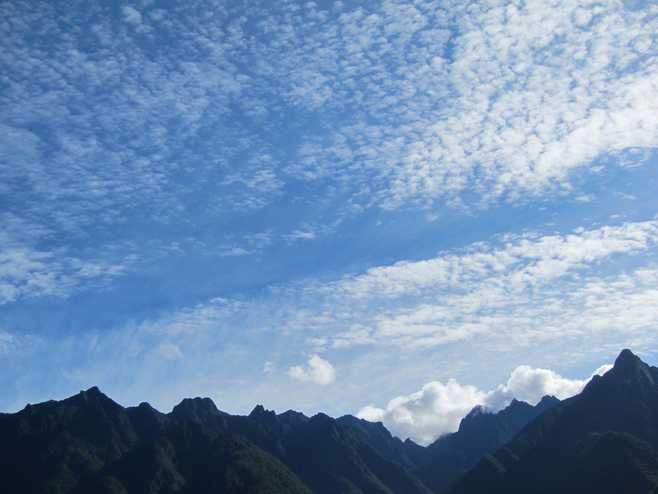 North from Machu Picchu