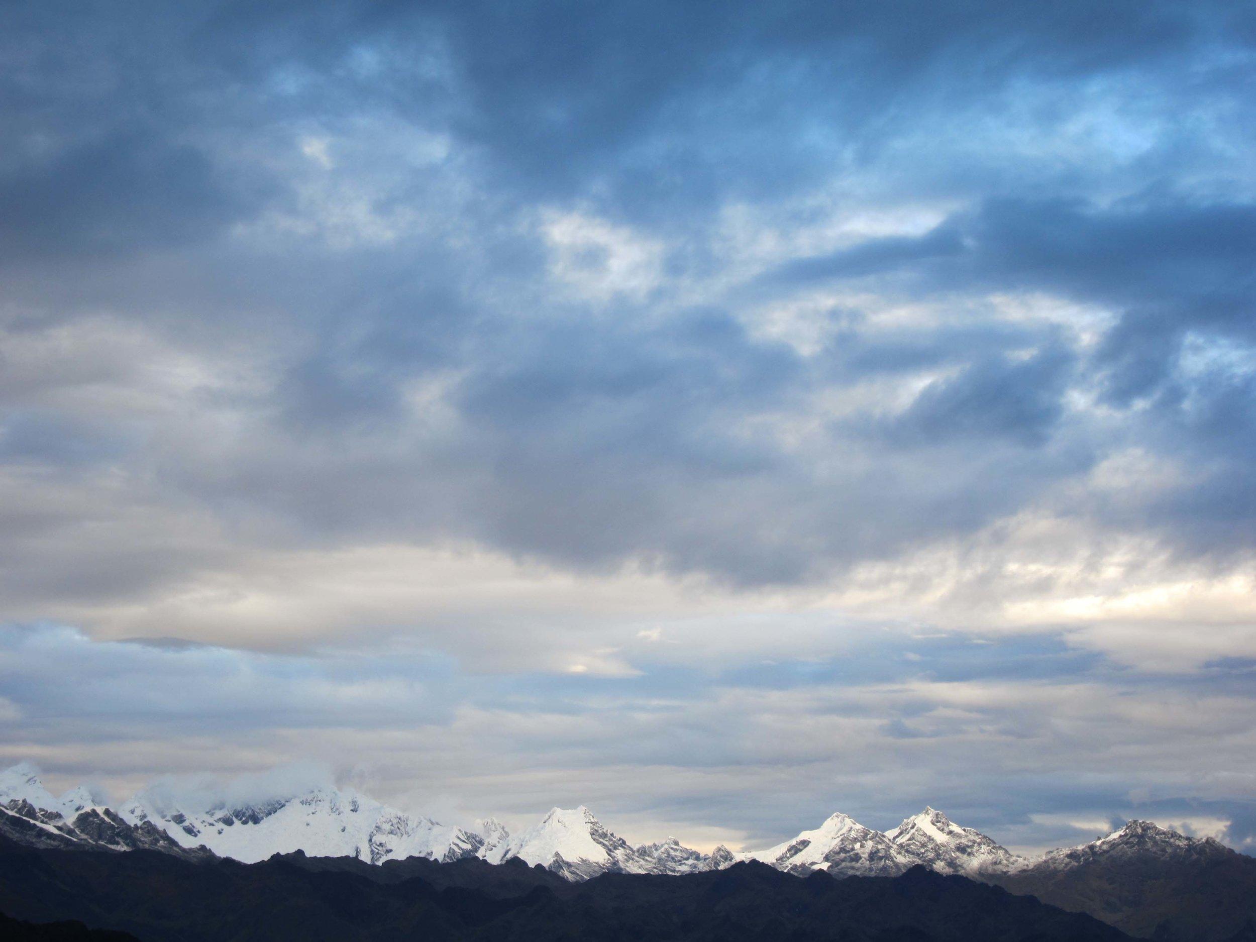 View from Chaquicocha, Inca Trail