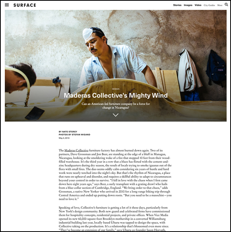 SURFACE MAGAZINE FEATURE
